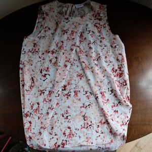 DKNYC Sleeveless Floral Top - Small